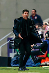 Head coach Diego Simeone of Atletico de Madrid reacts during the La Liga 2018-19 match between Atletico de Madrid and Deportivo Alaves at Wanda Metropolitano on December 08 2018 in Madrid, Spain. Photo by Diego Souto / Power Sport Images