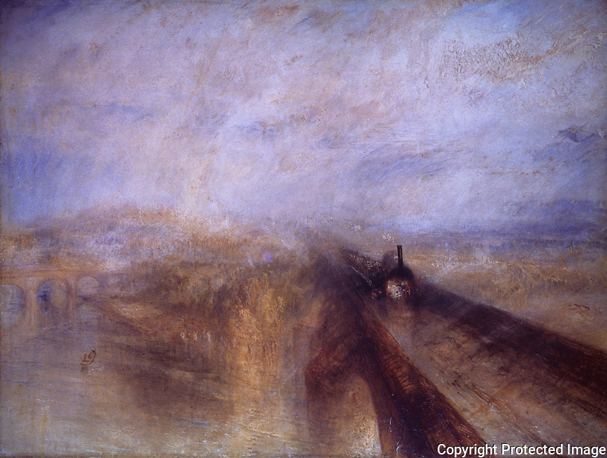 "J.M.W. Turner:  ""Rain, Steam and Speed""--the Great Western Railway. National Gallery-London.  Reference only."
