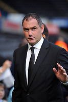 Swansea manager Paul Clement arrives prior to the game during the Premier League match between Swansea City and Watford at The Liberty Stadium, Swansea, Wales, UK. Saturday 23 September 2017
