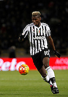 Calcio, Serie A:  Bologna vs Juventus. Bologna, stadio Renato Dall'Ara, 19 febbraio 2016. <br /> Juventus' Paul Pogba in action during the Italian Serie A football match between Bologna and Juventus at Bologna's Renato Dall'Ara stadium, 19 February 2016.<br /> UPDATE IMAGES PRESS/Isabella Bonotto