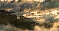 Sunset at Passo Pordoi, Dolomites, Italy