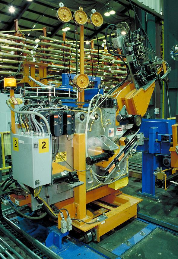 High tech robotic equipment in Mueller Brass Company plant, Port Huron, MI. Machinery. Technology. Factory. Manufacturing. Port Huron Michigan.