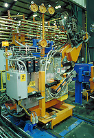 High tech robotic equipment in Mueller Brass Company plant, Port Huron, MI. Machinery. Technology. Factory. Manufacturing. Port Huron Michigan.