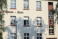 GERMANY, Hamburg, colonial German history, former Nazi Lettow-Vorbeck barracks in Jenfeld , built 1936-38, later used by Bundeswehr until 1999, bust of commander of the german colonial troops / DEUTSCHLAND, Hamburg, Germany, Hamburg, Gelaende der ehemaligen Wehrmacht Kaserne Lettow-Vorbeck in Jenfeld, später genutzt von der Bundeswehr bis 1999, zur Zeit Wohnheim der Bundeswehr Universität, Büsten von Kommandeuren der Kolonialtruppen an den Kasernen, Herrmann von Wißmann , als Reichskommissar und Befehlshaber der ersten deutschen Kolonialtruppe Schutztruppe war er in den Jahren 1889/1890 verantwortlich für die Niederschlagung des Widerstandes der ostafrikanischen Küstenbevölkerung. 1895/96 war er Gouverneur von Deutsch-Ostafrika