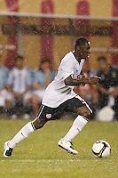 United States midfielder Freddy Adu (19). The men's national teams of the United States and Argentina played to a 0-0 tie during an international friendly at Giants Stadium in East Rutherford, NJ, on June 8, 2008.
