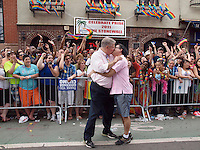 Jubilant Gay Pride Parade after passage of the Gay Marriage Equality Law