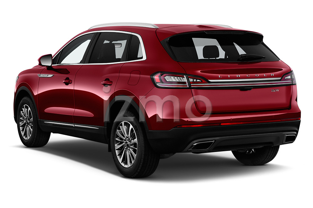 Car pictures of rear three quarter view of a 2019 Lincoln Nautilus Select 5 Door SUV angular rear
