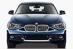 Straight front view of a 2011 - 2014 BMW 118d 5 Door hatchback.