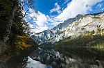 Austria; Styria; Lake Leopoldsteinersee: mountain lake with Seemauer mountain range | Oesterreich, Steiermark, Bergsee Leopoldsteinersee am Fusse der Seemauer
