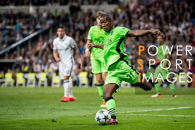 Marvin Zeegelaar of Sporting Portugal in action during their 2016-17 UEFA Champions League match between Real Madrid vs Sporting Portugal at the Santiago Bernabeu Stadium on 14 September 2016 in Madrid, Spain. Photo by Diego Gonzalez Souto / Power Sport Images