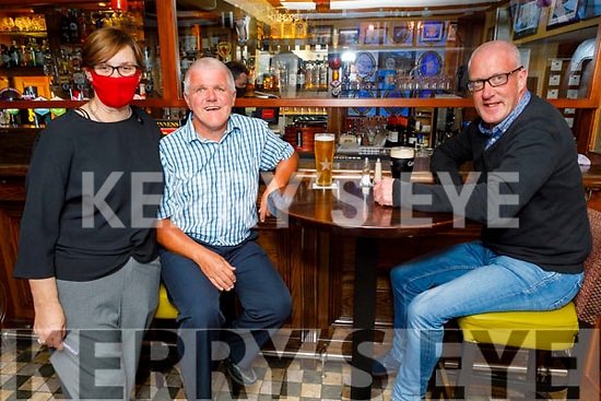 Sean O'Connor, Declan O'Brien and Fiona Kirby in the Brogue Inn on Saturday.