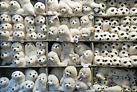 Stuffed animals in a store.