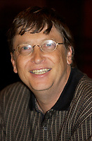 August 19 . 2002, Montreal, Quebec, Canada; <br /> <br /> Bill Gates, CEO of Microsoft, share his experience in playing bridge with professionals, August 19 2002<br />  at a press conference during a 3 days  Bridge tournament at the Fairmount - Queen Elizabeth, in  Montreal, CANADA.