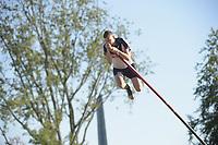 FIERLJEPPEN: BURGUM: 14-07-2018, Keningsljeppen, ©foto Martin de Jong