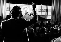 September 16, 1975 File Photo - Quebec Premier and Liberal Leader Robert Bourassa at a PLQ event