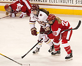 Erin Connolly (BC - 15), Savannah Newton (BU - 28) - The Boston College Eagles defeated the visiting Boston University Terriers 5-3 (EN) on Friday, November 4, 2016, at Kelley Rink in Conte Forum in Chestnut Hill, Massachusetts.The Boston College Eagles defeated the visiting Boston University Terriers 5-3 (EN) on Friday, November 4, 2016, at Kelley Rink in Conte Forum in Chestnut Hill, Massachusetts.