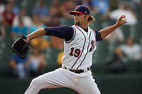 Muecke, Josh 3162.jpg.  PCL baseball featuring the New Orleans Zephyrs at Round Rock Express  at Dell Diamond on June 19th 2009 in Round Rock, Texas. Photo by Andrew Woolley.