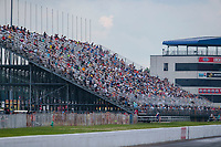 Jul 19, 2020; Clermont, Indiana, USA; NHRA fans in the grandstands during the Summernationals at Lucas Oil Raceway. Mandatory Credit: Mark J. Rebilas-USA TODAY Sports
