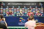 Guangzhou Evergrande FC head coach Luiz Felipe Scolari (L2) and Guangzhou Evergrande FC defender Kim Young-gwon (R2) attend the Pre-Match Press Conference and Training Session prior to the AFC Champions League 2017 Quarter-Finals match between Shanghai SIPG (CHN) and Guangzhou Evergrande (CHN) at the Shanghai Stadium on 21 August 2017 in Shanghai, China. Photo by Yu Chun Christopher Wong / Power Sport Images