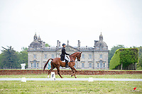 NZL-James Avery rides Gorgeous DHI during the Dressage for the CCI-L 3* Section C. Interim-3rd. 2021 GBR-Saracen Horse Feeds Houghton International Horse Trials. Hougton Hall. Norfolk. England. Friday 28 May 2021. Copyright Photo: Libby Law Photography