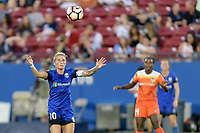 Frisco, TX - Sunday September 03, 2017: Jess Fishlock during a regular season National Women's Soccer League (NWSL) match between the Houston Dash and the Seattle Reign FC at Toyota Stadium in Frisco Texas. The match was moved to Toyota Stadium in Frisco Texas due to Hurricane Harvey hitting Houston Texas.