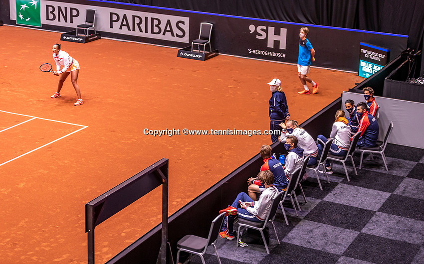 Den Bosch, The Netherlands, April 17, 2021,    Maaspoort, Billie Jean King Cup  Netherlands -  China , Dutch platers<br /> Photo: Tennisimages/Henk Koster
