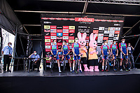 Team Total Direct Energie pre race team presentation.<br /> <br /> Dwars Door Het Hageland 2020<br /> One Day Race: Aarschot – Diest 180km (UCI 1.1)<br /> Bingoal Cycling Cup 2020
