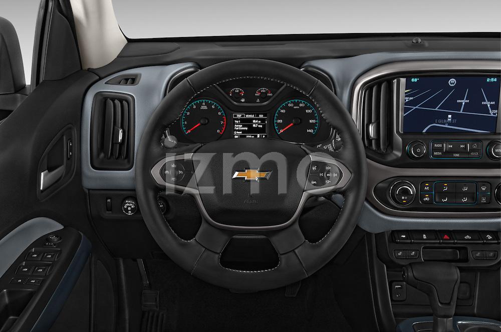 Car pictures of steering wheel view of a 2017 Chevrolet Colorado Z71 Crew Cab 4 Door Pick Up Steering Wheel