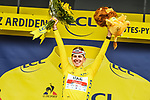 Race leader Tadej Pogacar (SLO) UAE Team Emirates wins  Stage 18 and retains the Yellow Jersey of the 2021 Tour de France, running 129.7km from Pau to Luz Ardiden, France. 15th July 2021.  <br /> Picture: A.S.O./Charly Lopez   Cyclefile<br /> <br /> All photos usage must carry mandatory copyright credit (© Cyclefile   A.S.O./Charly Lopez)