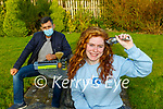 LAura Whelton Fossa who is shaving her hair in aid of the Kerry Rape Crisis Centre with the help of neighbour Michael Kaya