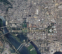 aerial photo map of Washington, DC, 2011
