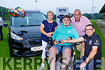 Ian O'Connell who was presented with a new car as a surprise birthday present in Spa on Friday evening