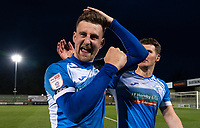 Scott Quigley of Barrow at full time during the Sky Bet League 2 match between Forest Green Rovers and Barrow at The New Lawn, Nailsworth on Tuesday 27th April 2021. (Credit: Prime Media Images I MI News)