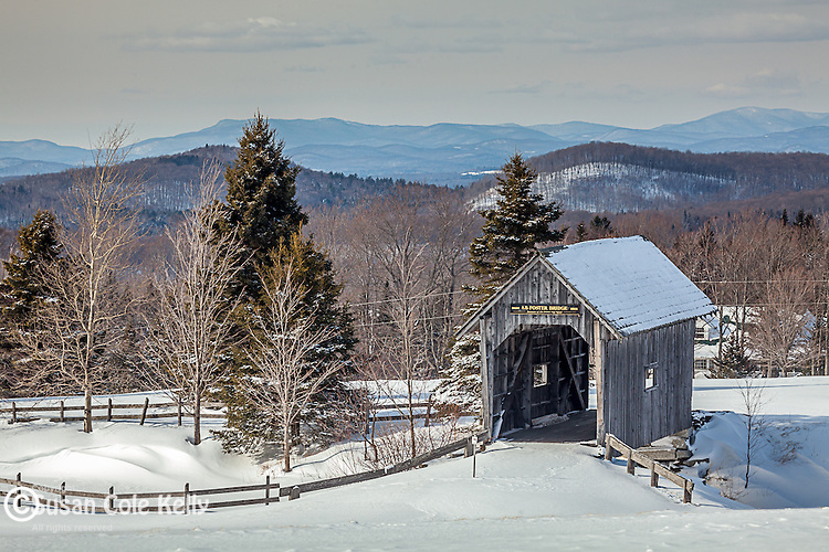 The A. M. Foster covered bridge in Cabot, Vermont, USA
