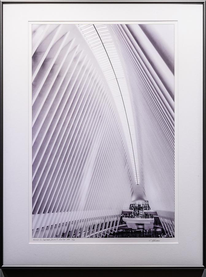 """Framed Size 26""""h x 20""""w, $625<br /> Graphite Nielsen 15 metal frame"""