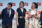Madrid President Ignacio Gonzalez and Queen Letizia of Spain attend the 'Barco de Vapor' literature awards at the Casa de Correos in Madrid, Spain. April 21, 2015. (ALTERPHOTOS/Victor Blanco)