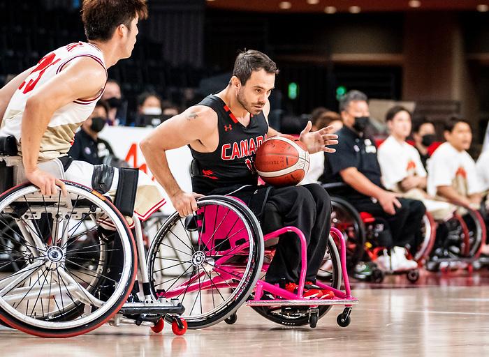 Chad Jassman, Tokyo 2020 - Wheelchair Basketball // Basketball en fauteuil roulant.<br /> Canada takes on Japan in a men's preliminary game // Le Canada affronte le Japon dans un match préliminaire masculin. 28/08/2021.