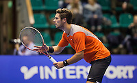 Rotterdam,Netherlands, December 15, 2015,  Topsport Centrum, Lotto NK Tennis, Tim van Terheijden (NED<br /> Photo: Tennisimages/Henk Koster