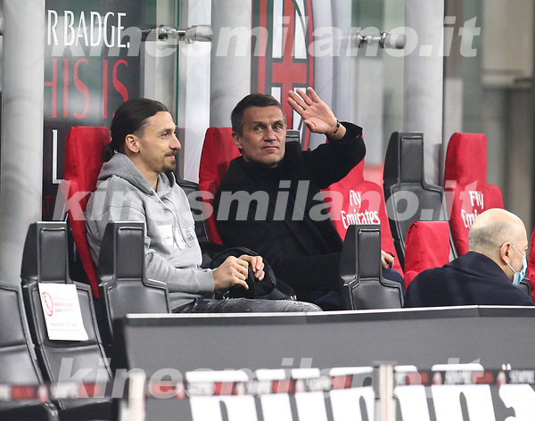 Milano 03-03-2021<br /> Stadio Giuseppe Meazza<br /> Serie A  Tim 2020/21<br /> Milan - Udinese<br /> nella foto:   Maldini                                                      <br />  Antonio Saia
