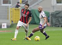 Milano  29-11-2020<br /> Stadio Giuseppe Meazza<br /> Campionato Serie A Tim 2020/21<br /> Milan - Fiorentina<br /> nella foto:  Hakan Calhanoglu                        <br /> foto Antonio Saia Kines Milano