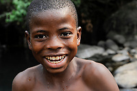 Sierra Leone, Freetown, laughing boy
