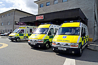 Ambulances outside the Accidents and Emergencies entrance. This image may only be used to portray the subject in a positive manner..©shoutpictures.com..john@shoutpictures.com