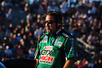 Sept. 23, 2011; Ennis, TX, USA: NHRA crew chief Dean Antonelli for funny car driver John Force during qualifying for the Fall Nationals at the Texas Motorplex. Mandatory Credit: Mark J. Rebilas-