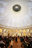 The Rotunda Planetarium Project - a projection of the night's sky inside the dome of the Rotunda at the University of Virginia. Photo/Andrew Shurtleff Photography, LLC