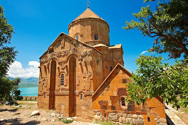 10th century Armenian Orthodox Cathedral of the Holy Cross on Akdamar Island, Lake Van Turkey 61
