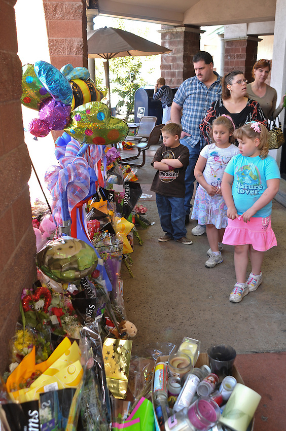 The corner Safeway became a tourist stop. Folks flocked to the three shrines and the scene of the shooting now marked by a permanent monument dedicated to the 19 shot and those killed. Folks would get up in the morning and decided to drive 150 miles to see where it all happened...