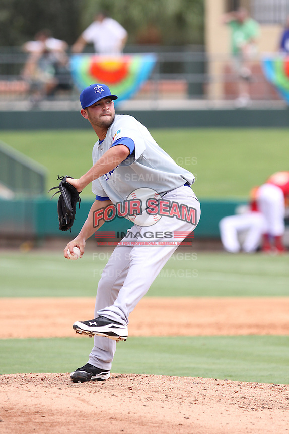 David Kopp of Team Israel delivers a pitch to the plate against Team Spain during the World Baseball Classic preliminary round at Roger Dean Stadium on September 21, 2012 in Jupiter, Florida. Team Israel defeated Team Spain 4-2. (Stacy Jo Grant/Four Seam Images)