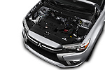 Car stock 2018 Mitsubishi Outlander Sport SEL 5 Door SUV engine high angle detail view
