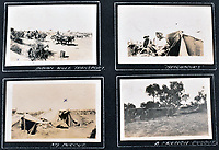 BNPS.co.uk (01202 558833)<br /> Pic: C&T/BNPS<br /> <br /> Primitive living conditions during the campaign.<br /> <br /> Never before seen photos of the disastrous Gallipoli campaign have come to light over a century later.<br /> <br /> The fascinating snaps were taken by Sub Lieutenant Gilbert Speight who served in the Royal Naval Air Service in World War One.<br /> <br /> They feature in his photo album which covers his eventful war, including a later stint in Egypt.<br /> <br /> There are dramatic photos of the Allies landing at X Beach, as well as sobering images of a mass funeral following the death of 17 Brits. Another harrowing image shows bodies lined up in a mass grave.<br /> <br /> The album, which also shows troops during rare moments of relaxation away from the heat of battle, has emerged for sale with C & T Auctions, of Ashford, Kent. It is expected to fetch £1,500.