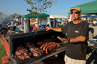 Sizeable crowds and hundreds of backyard grillers turned out for the 2011 Time Warner Cable BBQ & Blues festival in downtown Charlotte, NC, Sept. 9-10, 2011. Produced by Charlotte's Center City Partners, BBQ & Blues is the Southeast's largest MBN-sanctioned BBQ Festival. National and local teams competed for $25,000 in prize money.